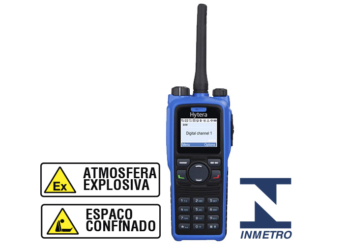 PD796 EX - RÁDIO PORTÁTIL DIGITAL HYTERA (Intrinsecamente Seguro)